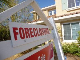 A foreclosure sign.